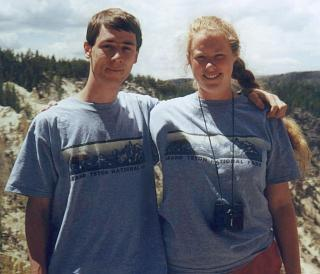 Katie & David at Yellowstone National Park, June 2000